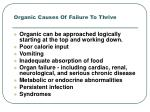 organic causes of failure to thrive