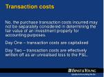 transaction costs1