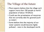 the village of the future