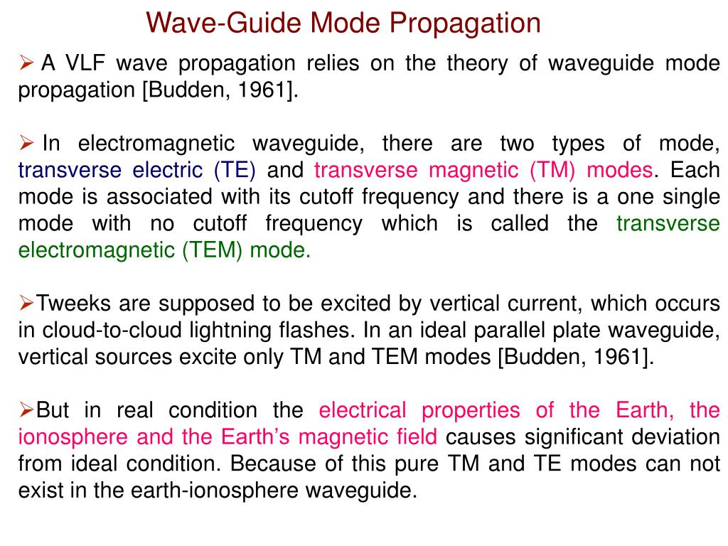 Wave-Guide Mode Propagation