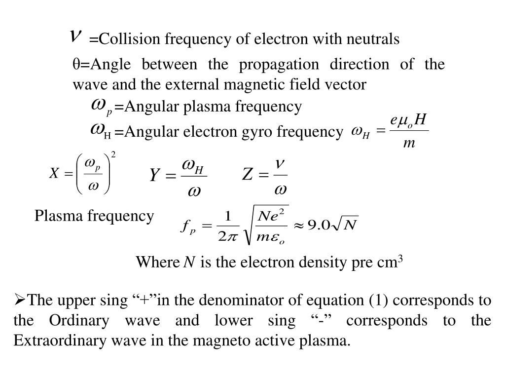 =Collision frequency of electron with neutrals