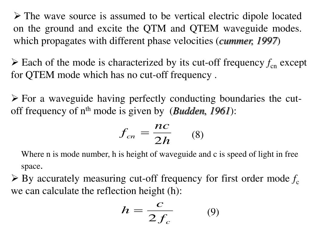 The wave source is assumed to be vertical electric dipole located on the ground and excite the QTM and QTEM waveguide modes. which propagates with different phase velocities (