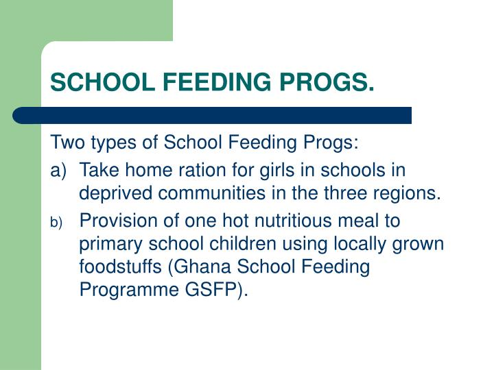 effects of school feeding programme on education Our cochrane review of school feeding programmes in disadvantaged children included trials from five continents and spanned eight decades 1 although we found that the programmes have significant positive effects on growth and cognitive performance, the trials had many different designs and were.
