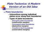 plate tectonics a modern version of an old idea14