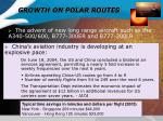 growth on polar routes