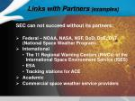 links with partners examples