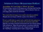 solution to direct measurement problem