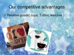 our competitive advantages11