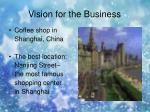 vision for the business
