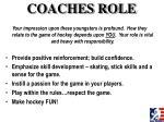 coaches role