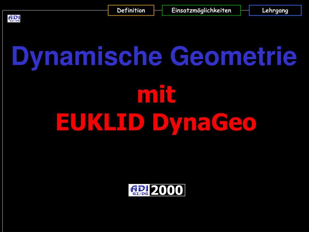 dynamische geometrie l.