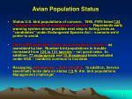 avian population status