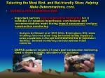 selecting the most bird and bat friendly sites helping make determinations cont