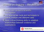science as inquiry the nsess