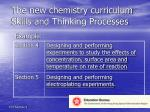 the new chemistry curriculum skills and thinking processes21