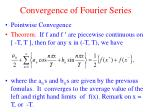 convergence of fourier series