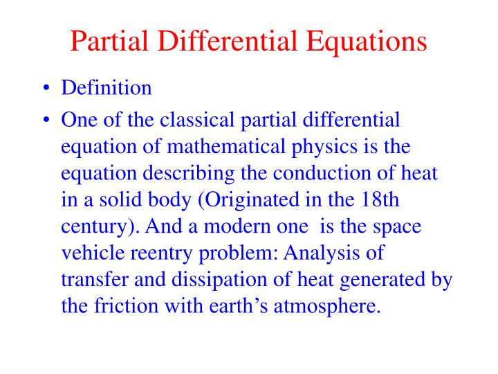 partial differential equations n.