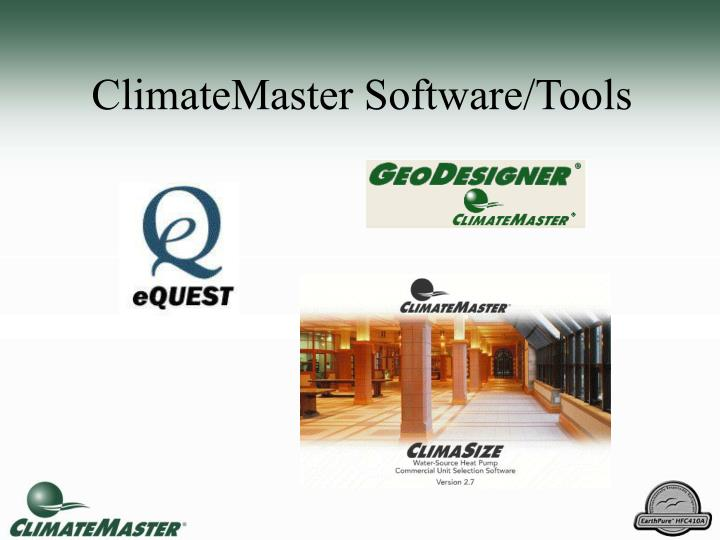 climatemaster software tools n.