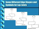 some different edge shapes and symbols for lap joints