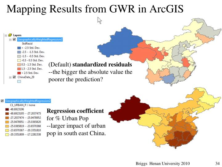 Mapping Results from GWR in ArcGIS