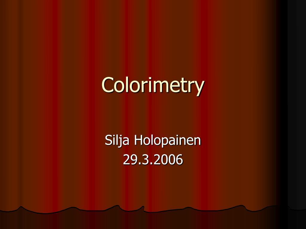 colorimetry l.
