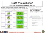data visualization example mantle tomography with idv