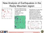 new analysis of earthquakes in the rocky mountain region
