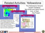 related activities yellowstone