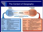 the content of geography
