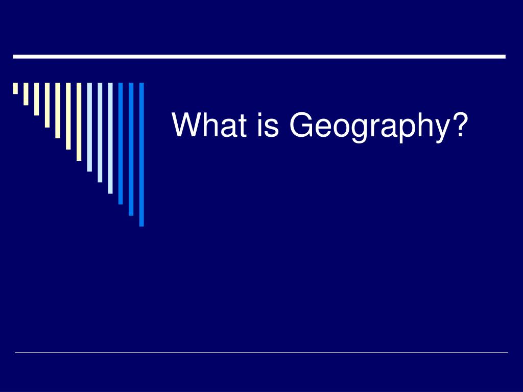 what is geography l.