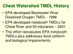 cheat watershed tmdl history