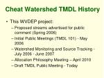 cheat watershed tmdl history10
