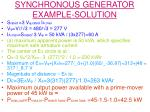synchronous generator example solution