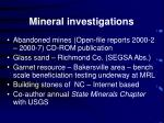 mineral investigations