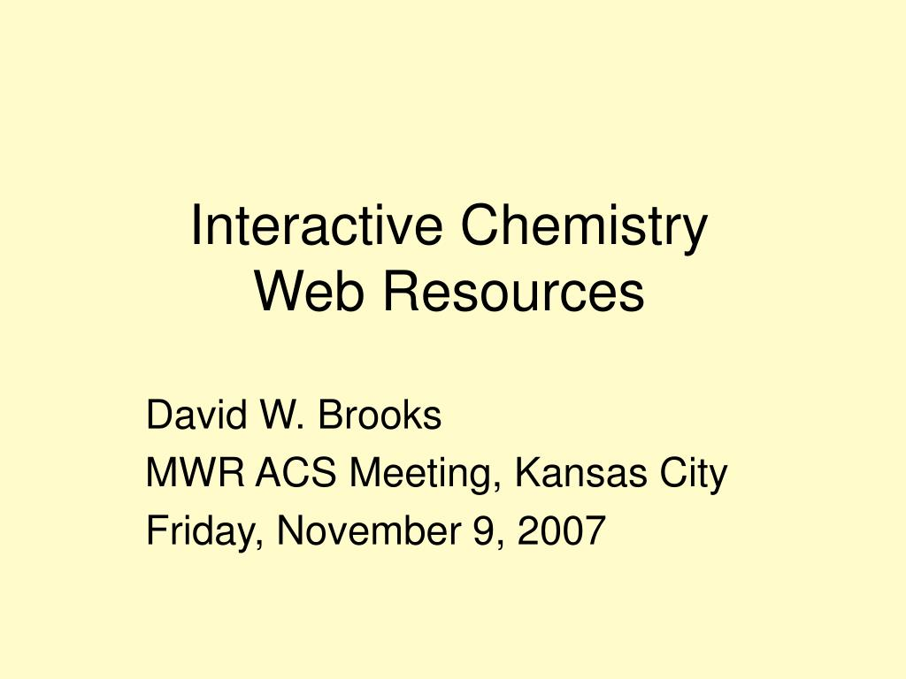 interactive chemistry web resources l.
