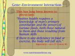 gene environment interaction3