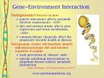 gene environment interaction5