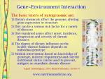 gene environment interaction6
