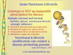 gene nutrients lifestyle