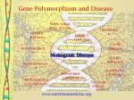 gene polymorphism and disease