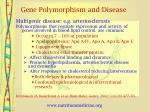 gene polymorphism and disease12