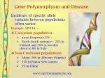 gene polymorphism and disease13