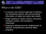 what is the ghs