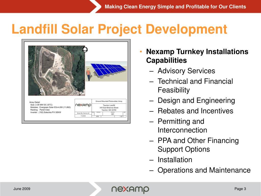 Landfill Solar Project Development