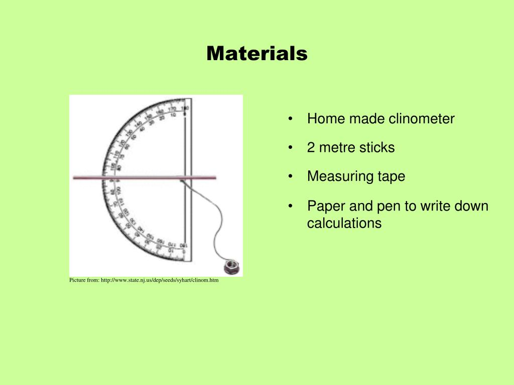 PPT - 6 2 1: The Uses of a Clinometer PowerPoint