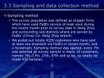 3 3 sampling and data collection method