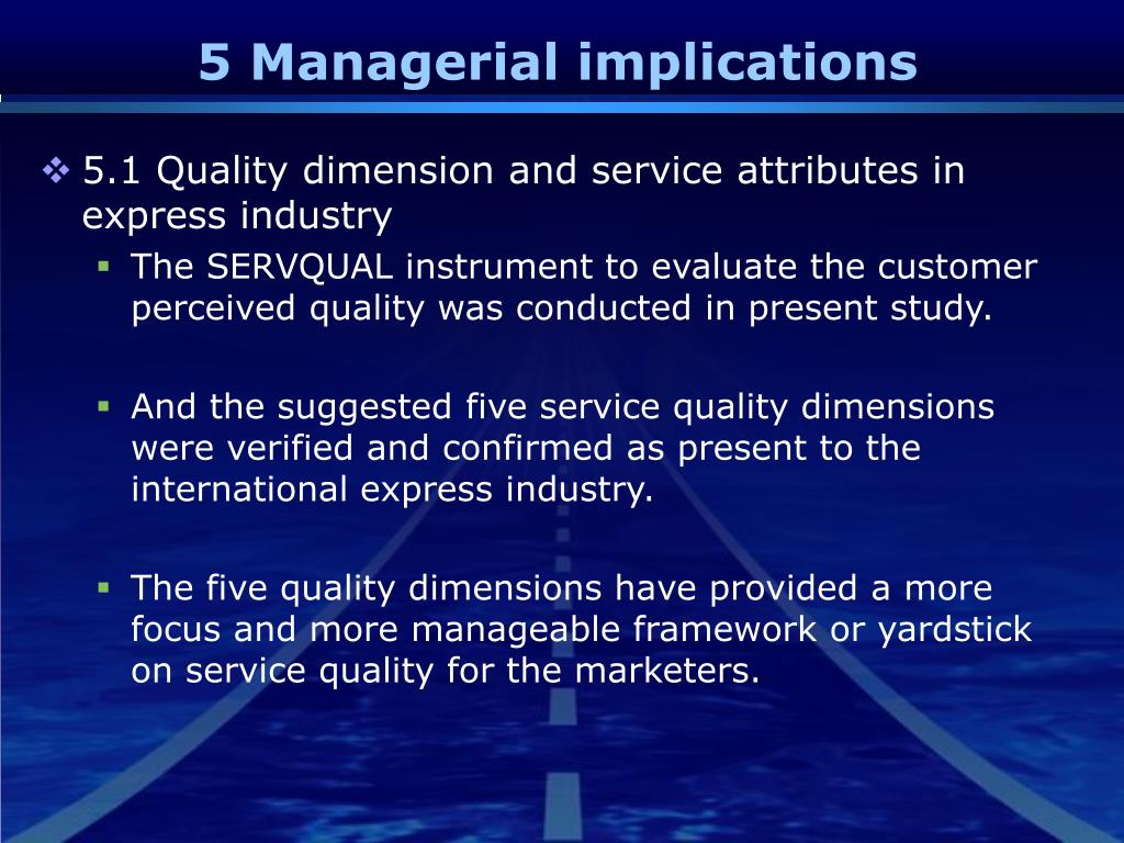 5 Managerial implications