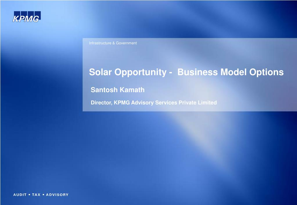 solar opportunity business model options l.