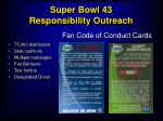 super bowl 43 responsibility outreach19