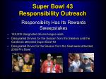 super bowl 43 responsibility outreach21